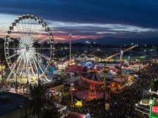 Ferris Wheel and rides at L.A. County Fair