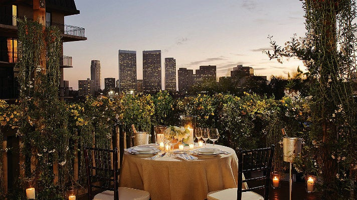Veranda Suite at the Beverly Wilshire hotel