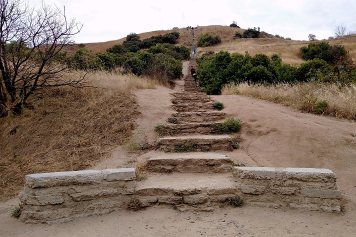 Steps at Baldwin Hills Scenic Overlook