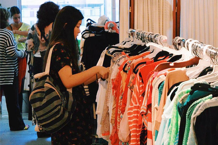 Sample sale at California Market Center in the L.A. Fashion District
