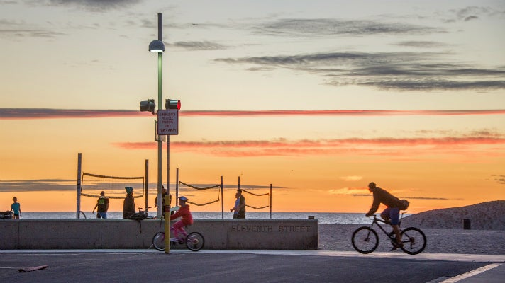 Sunset at The Strand in Hermosa Beach
