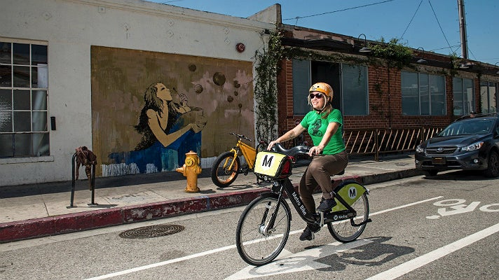 Metro Bike Share at the Arts District in Downtown L.A.