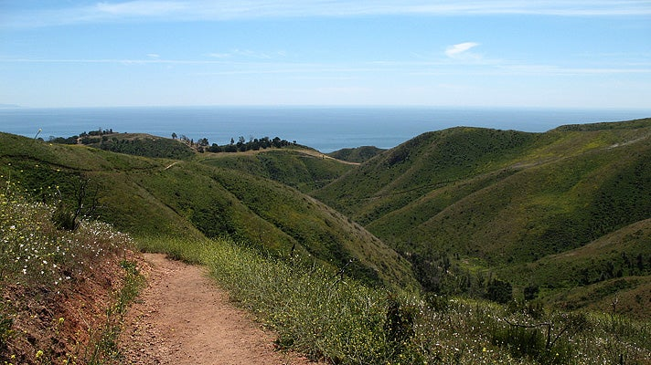 Rising Sun Trail in Malibu