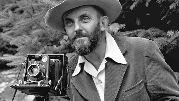 Ansel Adams portrait by J. Malcolm Greany