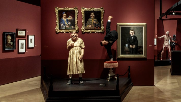 """Schlitzie and Half Boy from """"Freaks"""" at """"Guillermo del Toro: At Home with Monsters,"""" LACMA"""