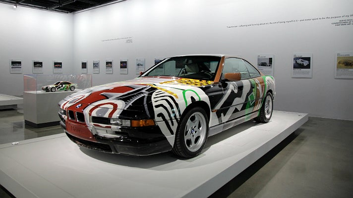 BMW Art Car painted by David Hockney at Petersen Automotive Museum