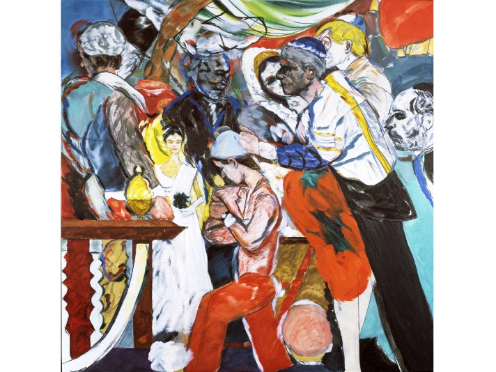 """The Wedding,"" 1989–1993, R.B. Kitaj at the Getty Center"