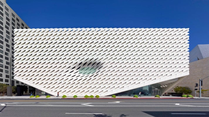 The Broad viewed from across Grand Avenue