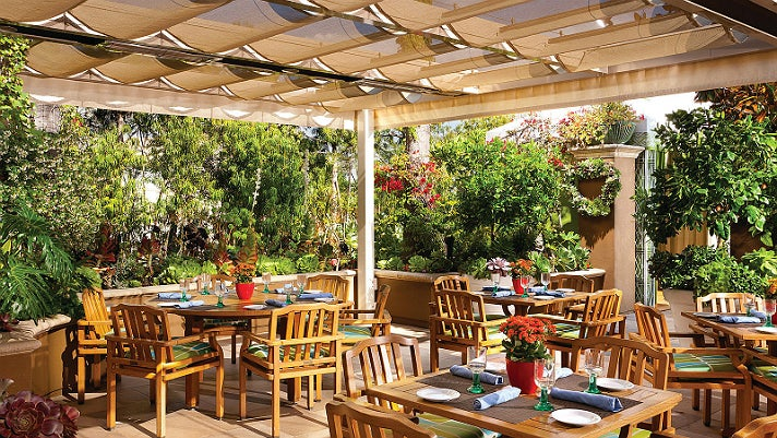 Cabana Restaurant at Four Seasons Hotel Los Angeles at Beverly Hills