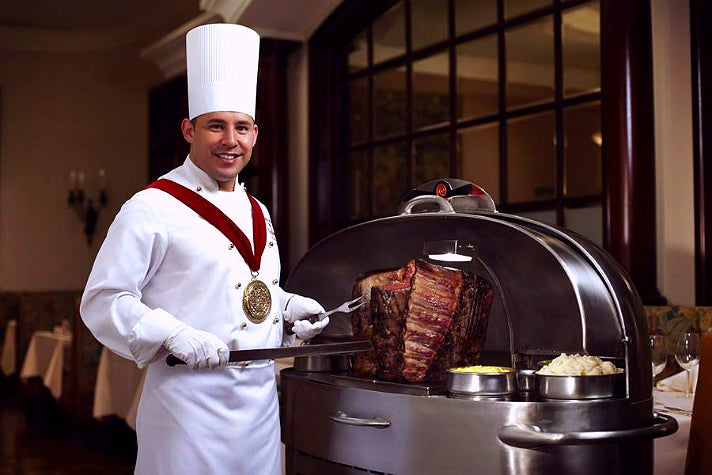 Carver at Lawry's The Prime Rib in Beverly Hills