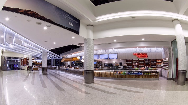 """Sunset Plaza"" featuring Wolfgang Puck in Terminal 6 at LAX"