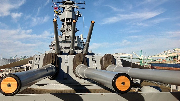 Battleship IOWA guns