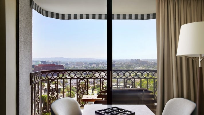 View from the Crown Suite at The London West Hollywood