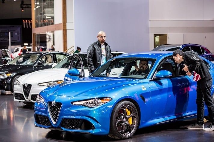 Alfa Romeo exhibit at 2017 LA Auto Show