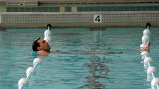 """Don in the NYAC pool from """"Mad Men"""" Season Four"""