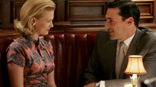 """Betty and Don at Toots Shor's from """"Mad Men"""" Season One"""