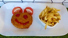 Chicken schnitzel for kids at 3 Square Cafe