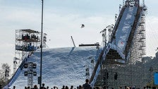 """Big Air"" snowboarding competition at the inaugural Air + Style Los Angeles"
