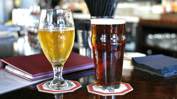 Happy Hour beers at The Greyhound