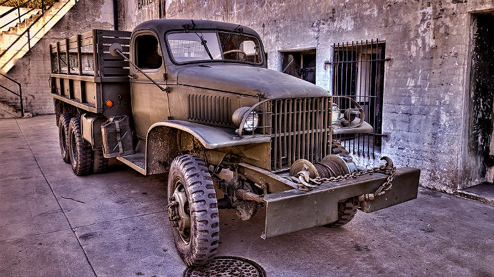 Truck at Fort MacArthur Museum