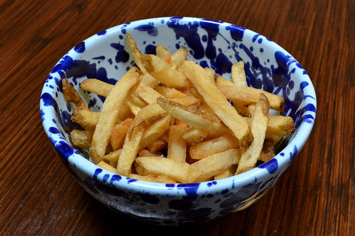 Hand-cut Kennebec fries at Belcampo Meat Co.