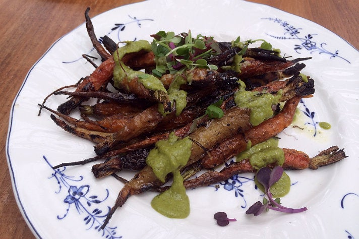 Charred carrots at Commissary