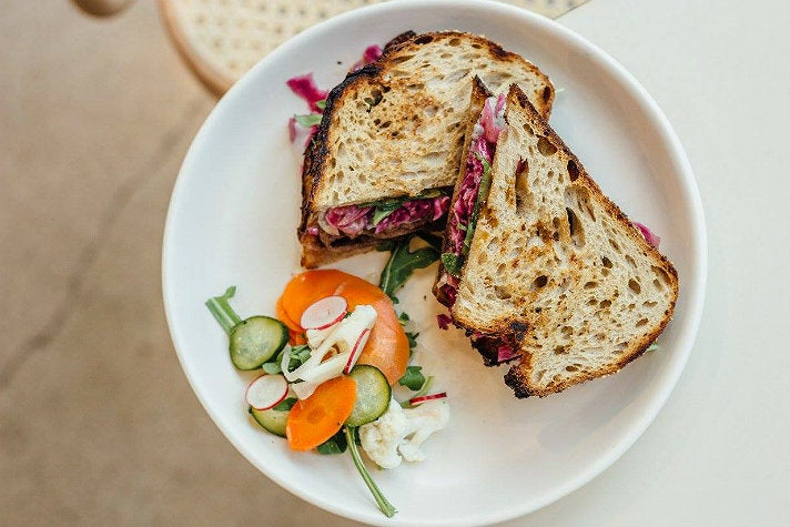 Grilled corned beef sandwich at Winsome
