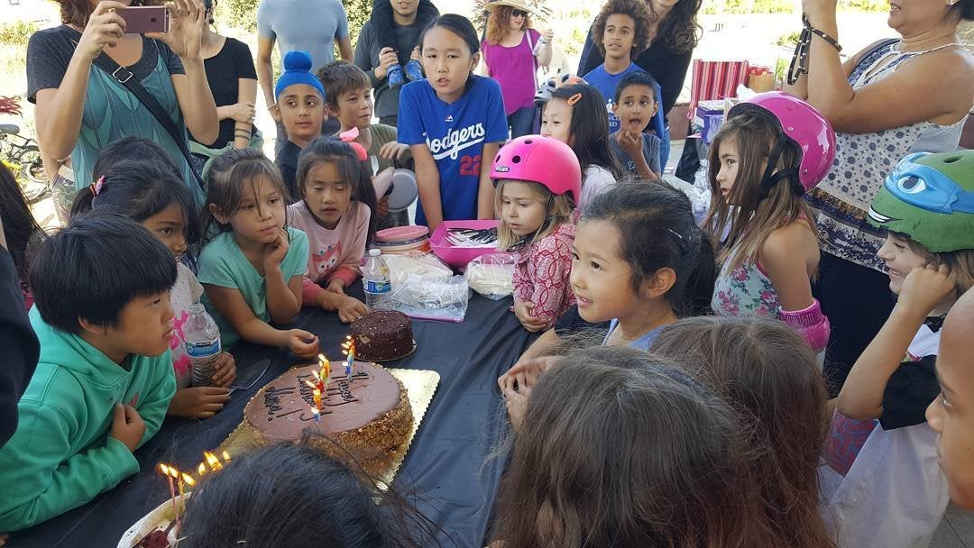 Birthday party at Los Angeles State Historic Park