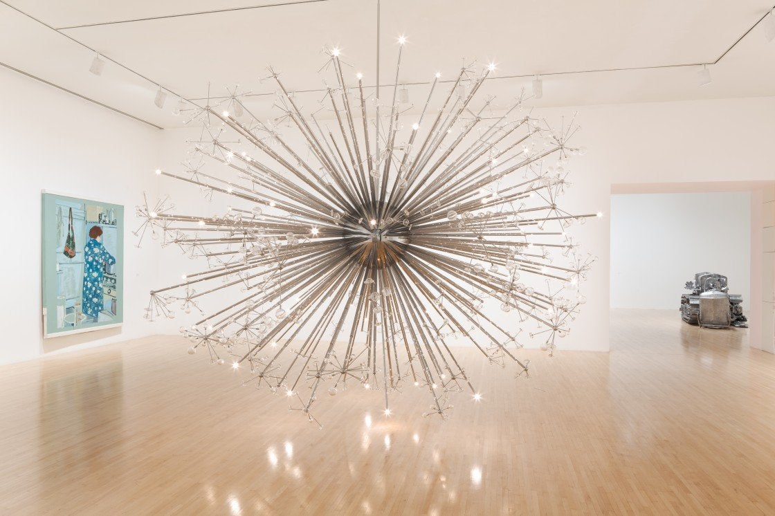 """Installation view of """"One Day at a Time: Manny Farber and Termite Art"""" at MOCA"""